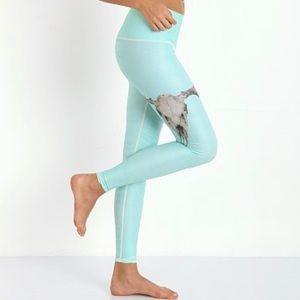 Teeki Teal Deer Medicine Turquoise Hot Pants